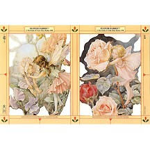 Large Sweet Pea and Rose Flower Fairies Scraps ~ England ~ Out of Print