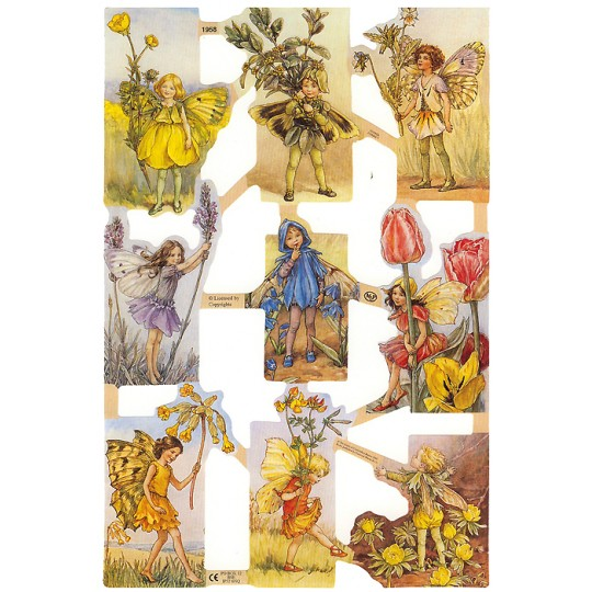 Assorted Flower Fairies Scraps ~ England