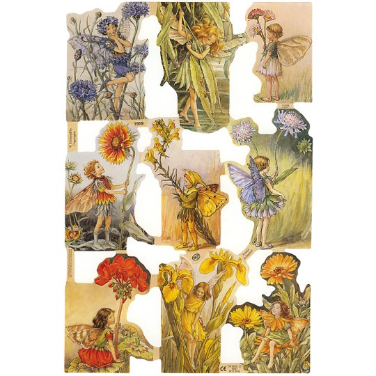 Assorted Flower Fairies Scraps ~ England ~ Out of Print