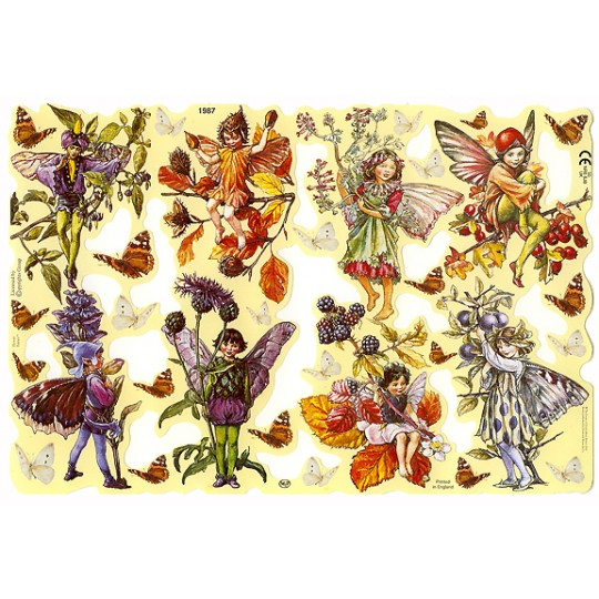 Autumn Flower Fairies Scraps ~ England