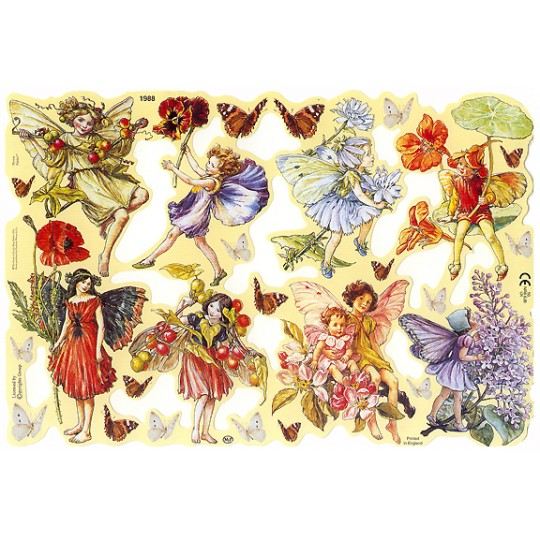 Springtime Flower Fairies Scraps ~ England ~ Out of Print