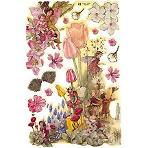 Flower Fairies with Springtime Bulbs Scraps ~ England ~ Out of Print
