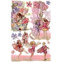Pastel Flower Fairies Scraps ~ England
