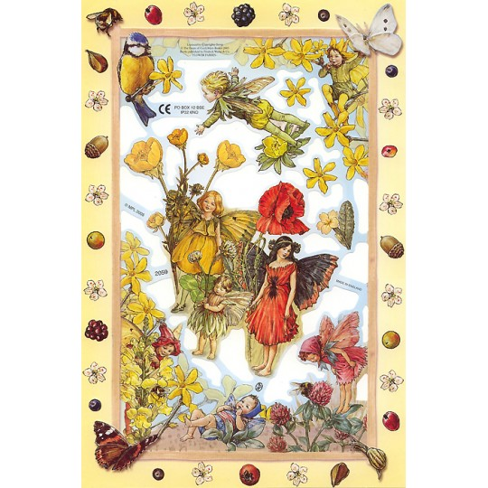 Flower Fairies Scraps with Poppies ~ England ~ Out of Print