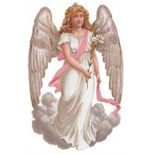 Curly Haired Angel Large Scrap ~ Germany
