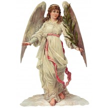 Large Angel with Palm Frond Scrap ~ Germany