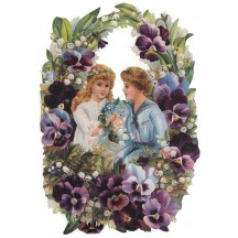 Large Pansy Children Scrap ~ Germany ~ New for 2012