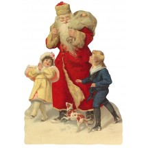 Large Santa with Children Scrap ~ Germany ~ New for 2012