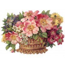 Large Flower Basket Scrap ~ Germany ~ New for 2012