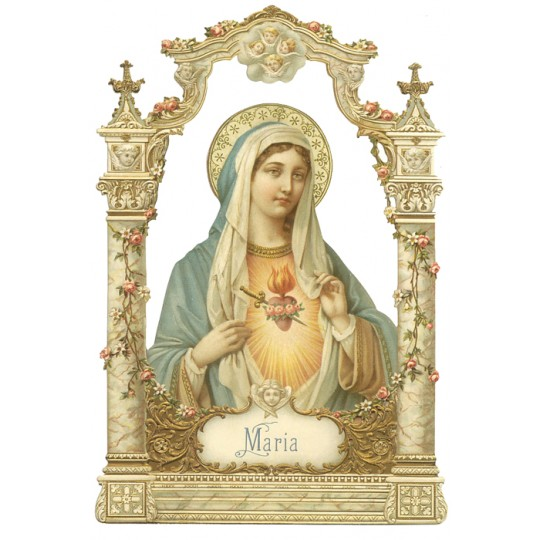 Beautiful Virgin Mary Large Scrap ~ Germany ~ New for 2012