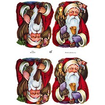 Old Time Santa Christmas Scraps ~ Germany