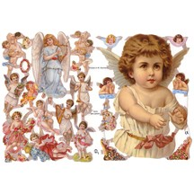 Mixed Cherubs and Angels Scraps ~ Germany