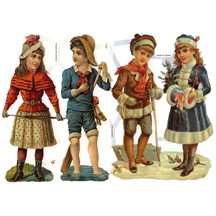 Victorian Winter Children Scraps ~ Germany