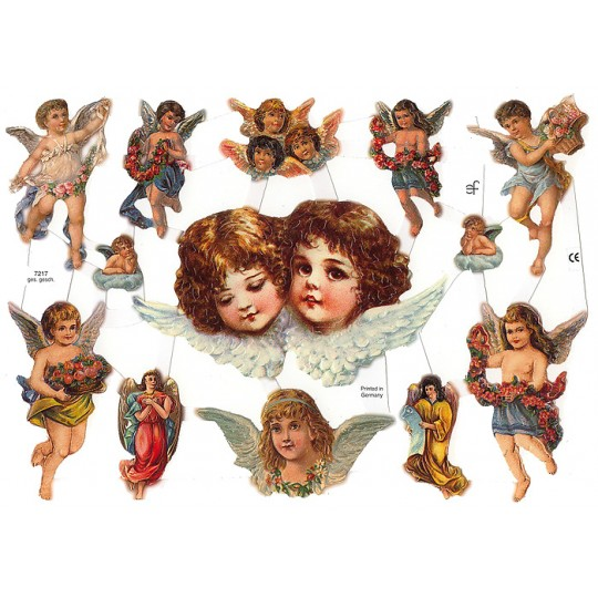 Mixed Cherubs Angels Scraps ~ Germany