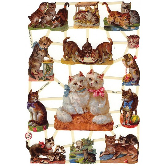 Charming Kitty Cat Scraps ~ Germany