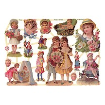 Victorian Children & Babies Scraps ~ Germany