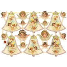 Pretty Angel and Bells Scraps ~ Germany
