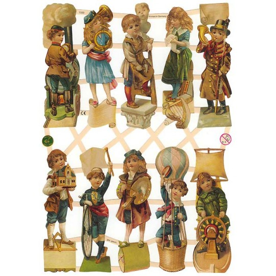 Victorian Children & Pastimes Scraps ~ Germany
