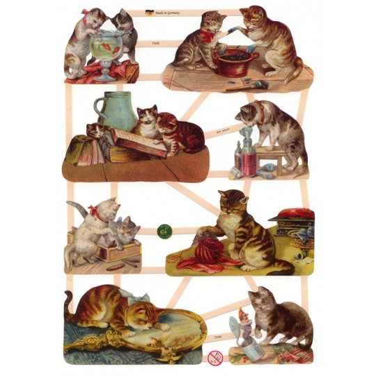 Victorian Kitty Cat Mischief Scraps ~ Germany ~ New for 2012