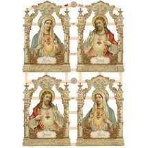 Beautiful Jesus and Mary Scraps ~ Germany ~ New for 2012