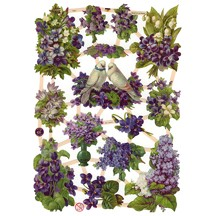 Mixed Violets, Lilacs and Doves Scraps ~ Germany ~ New for 2012