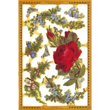 Red Rose & Florals Scraps ~ England