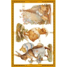 Victorian Chick & Bunny Easter Scraps ~ England