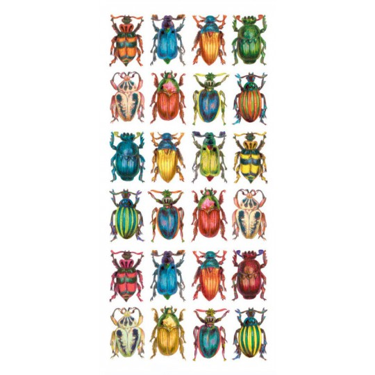 1 Sheet of Stickers Mixed Colorful Beetles