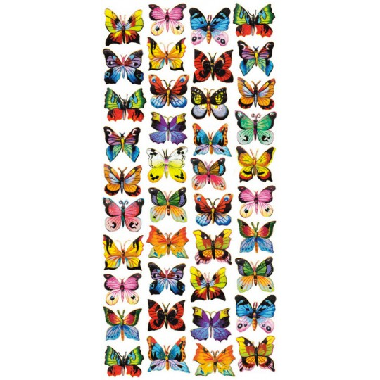 1 Sheet of Stickers Mixed Painted Butterfly