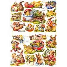 Bunny & Chick Vintage Images Easter Scraps ~ Germany