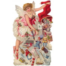 Large Sugarplum Fairy with Toys Scrap ~ Germany ~ New for 2014