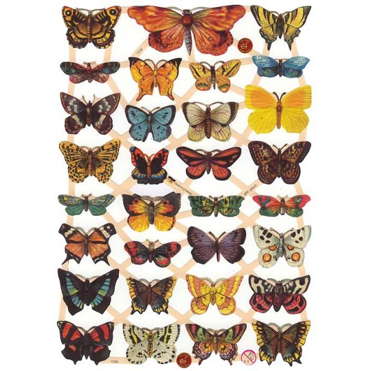 Beautiful Butterflies Scraps ~ Germany ~ New for 2014