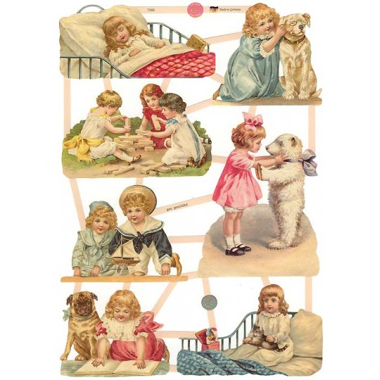 Victorian Children with Their Beloved Pets Scraps ~ Germany ~ New for 2014