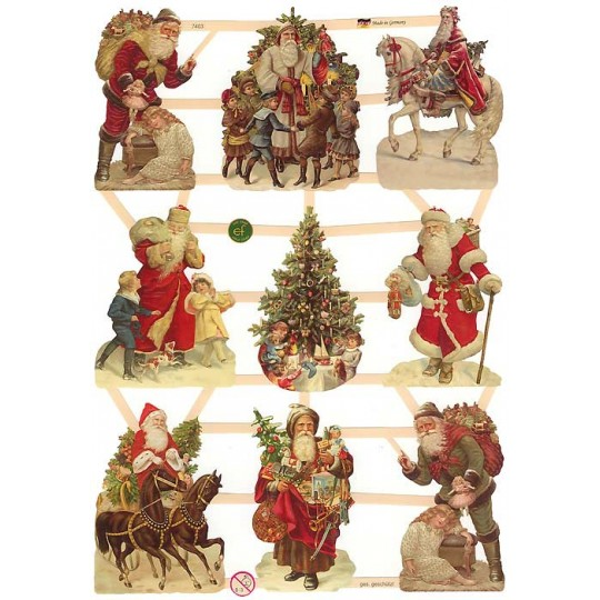Mixed Victorian Santa Scraps ~ Germany ~ New for 2014