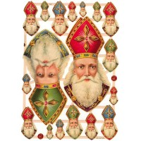 Old Fashioned St. Nicholas Scraps ~ Germany ~ New for 2014