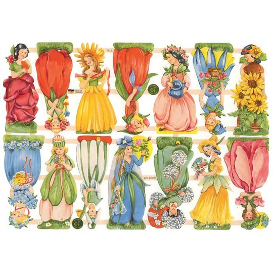 Pretty Flower Girl Scraps ~ Germany ~ New for 2014
