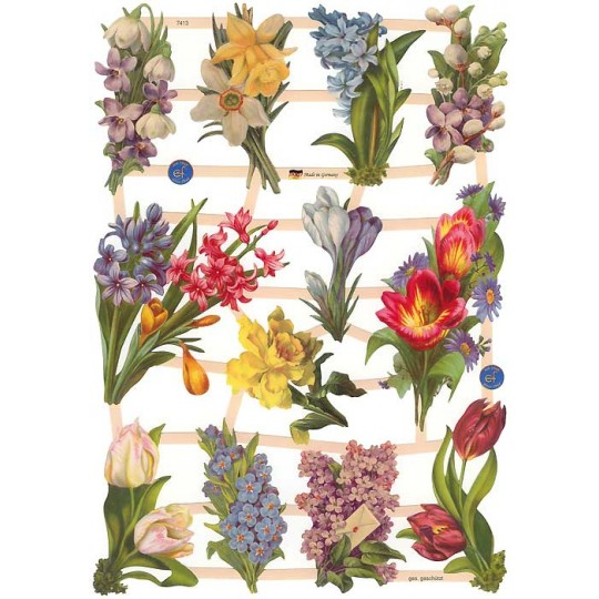 Springtime Bulbs Floral Scraps ~ Germany ~ New for 2014