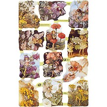 Mixed Flower Fairies Scraps Dark Backgrounds ~ England
