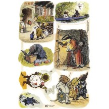 Wind in the WIllows Die-cut Scraps ~ England