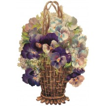 Large Pansy Basket Scrap ~ Germany ~ New for 2013