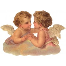 Two Cherubs Large Scrap ~ Germany ~ New for 2013