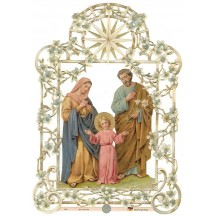 Double Sided Pastel Holy Family Scrap ~ Germany ~ New for 2014