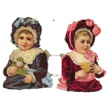 Large Victorian Babies with Flowers Scraps ~ Germany