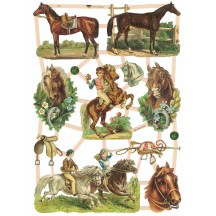 Pretty Mixed Horses Scraps ~ Germany