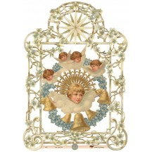 Double Sided Radiant Angel Scrap ~ Germany ~ New for 2014