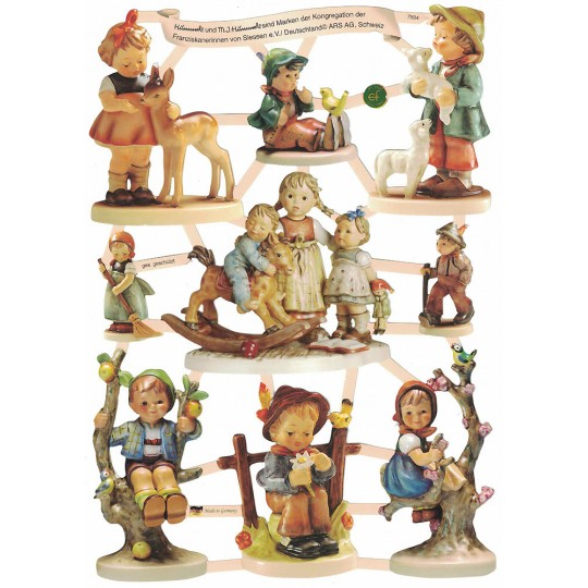 Charming Hummel Figurine Children Die-Cut Scraps ~ Germany