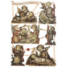 Charming Hummel Nativity Children Die-Cut Scraps ~ Germany