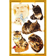 Medium Tabby Cat Scraps ~ England