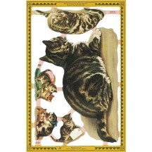Mixed Victorian Tabby Cat Scraps ~ England