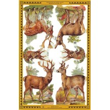 Deer and Reindeer Christmas Scraps ~ England ~ Out of Print